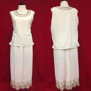 1X Off White 3pc Vintage formal Midnight Velvet